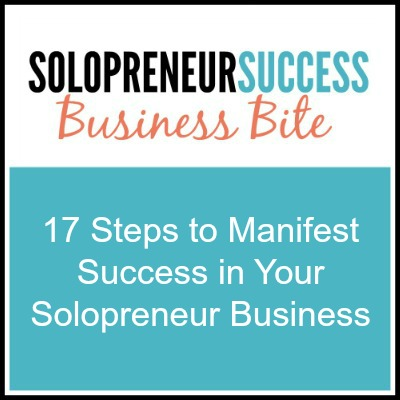 Solopreneur 17 steps to manifest success