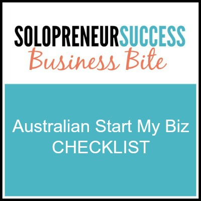 Solopreneur - Australia start my biz checklist