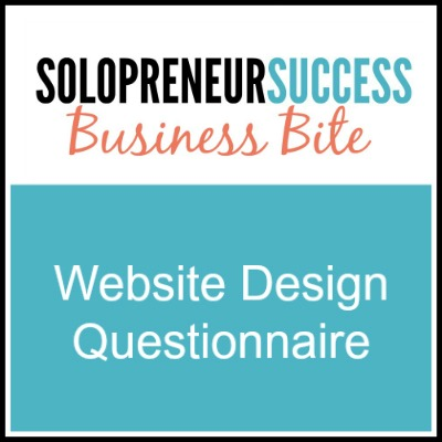 Solopreneur Website questions